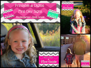 Printable and Digital First Day Signs2